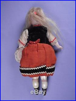 Sweetest Face Antique Bisque Head Doll Original Clothes Closed Mouth