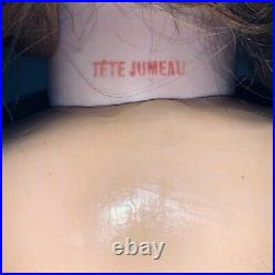 Tete Jumeau Bebe Red Stamp On Neck-Original Stamped Wood Composition Body 31