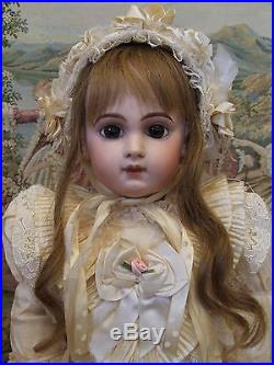 The Finest Antique Emile Jumeau EJ French Bisque Doll Gorgeous dress WOW