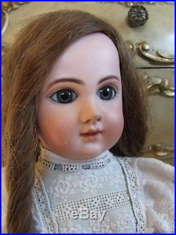The Most Beautiful Antique Bebe Steiner French Bisque Doll Lace Dress Human Wig