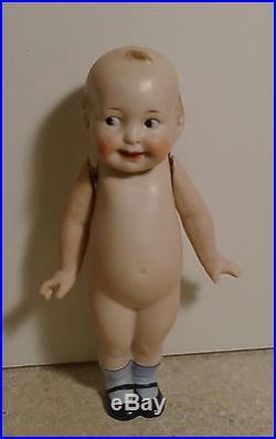 The Wide Awake Doll Registered Germany 7 Googly Eye All Bisque Antique Doll