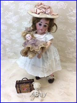 Tiny 10 French Bebe Antique Bisque Doll