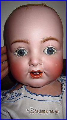 ULTRA RARE Antique 30 KR Simon & Halbig Bisque Head Character Baby Doll #126