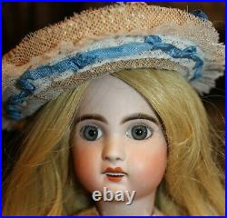 Unmarked size 6 16 tall lovely Jumeau with head repair
