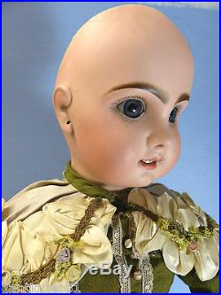 Very Beautiful Large Old Bisque Head Doll Tete Jumeau Extremely Rare L@@k