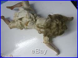 Very Old Bisque Head Wind Up Swimming Doll Ondine Extremely Rare L@@k