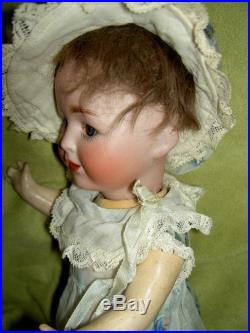 Very RARE, antique bisque character toddler doll circa 1900 mkd N & T 2 exlnt