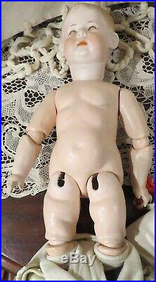 Very Rare Antique 16 German Bisque Art Character Fany by Armand Marseille